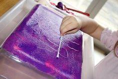 Le monotype est un processus de gravure relativement simple et facile à expérimenter avec les enfants. J'ai toujours aimé les arts plastiques à l'école, et je me souviens avoir réalisé quelques œuvres d'art (oui, oui!) en utilisant cette technique. Je trouve cette activité artistique très amusante, et j'étais persuadée que l'idée plairait à ma Poupette également. Ça n'a pas loupé, elle s'en est donnée à cœur joie! MATÉRIEL: · Une plaque de verre, de gomme, de polystyrène ou de plexiglas…