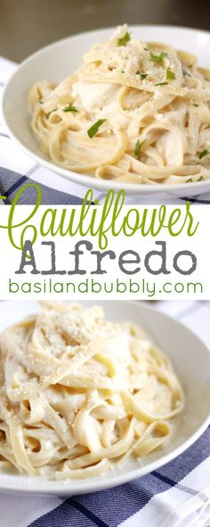 Creamy, decadent cauliflower alfredo sauce that even a picky eater will love -- with a vegan sauce option.