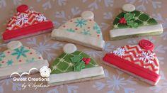 Christmas Hats  royal icing cookies