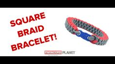 """#BRANDNEW Paracord Planet tutorial!! Check out our exclusive how-to for the """"Square Braid Bracelet."""" This is an awesome design for you to try out this weekend. https://www.youtube.com/watch?v=GhAxTA_tD-4&feature=youtu.be #paracord #square #braid #bracelet #design #diy #knotting #tying #howto #tutorial #planet #craft #crafting #paracordial"""