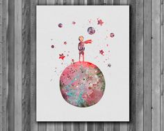 The Little Prince  Art Print instant download by digitalaquamarine