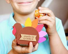 Kid's Thanksgiving Table Snacks-to-Gobble