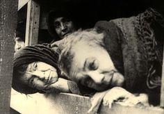 Auschwitz, Poland, Prisoners lying on their beds, during the camp's liberation.