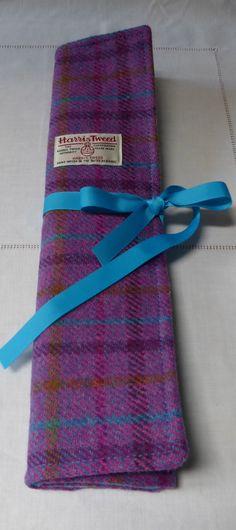 Harris Tweed Knitting Roll.