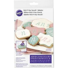 Wilton Stick-N-Stay Monogram Stencils Monogram Stencil, Monogram Alphabet, Cake Decorating Kits, Wilton Cake Decorating, Decorating Supplies, Wilton Icing, Wilton Cakes, Shortbread Cake, Fondant Tools