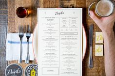 Dusek's #menu #design #Chicago