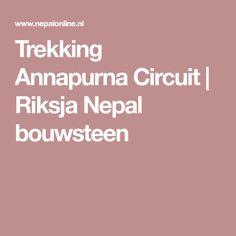Trekking Annapurna Circuit   Riksja Nepal bouwsteen