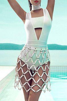 Hollow Out Choker Strapless Bandage Bodysuit – CHICIDA