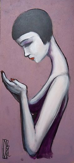 Hector Domiane Painted Ladies, Whimsical Art, Woman Painting, Boudoir, Contemporary Art, Charcoal, Picnic, Mixed Media, 1