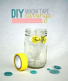 DIY Washi Tape Earrings from @savedbyloves @Sizzix_US