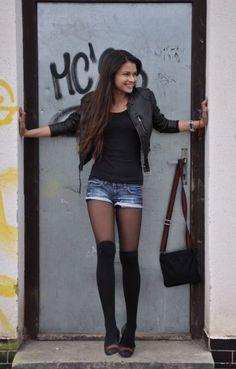 Die 53 besten Bilder von Shorts with Tights | Strumpfhose