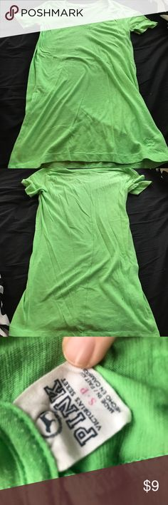 PINK V neck shirt size S PINK V neck Top, Green, and Size S. PINK Victoria's Secret Tops Tees - Short Sleeve