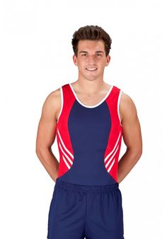 Boy's/Men's Gymnasitcs Leotard In Red, White And Blue Boys Gymnastics, Gym Leotards, Sport Wear, Workout Wear, Mens Fitness, Athletic Tank Tops, Guys, Female, Stylish