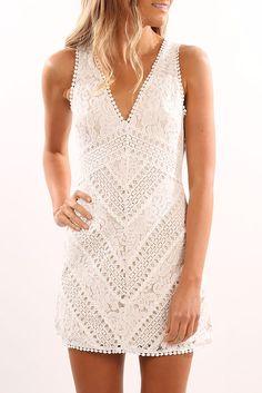 Horford Dress White