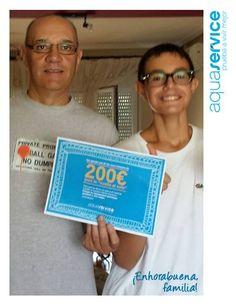 Aquí tenemos la primera foto de una de nuestras familias ganadoras del cheque de la #vueltaalcole Aquaservice. ¡Gracias por compartirla! #pruebaavivirmejor