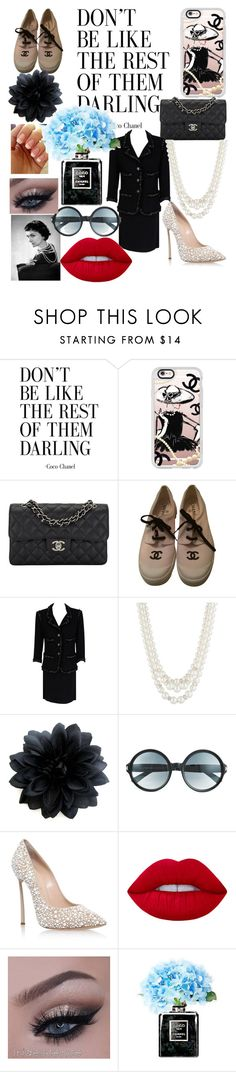 """""""Coco Chanel Crazy"""" by angel0wings ❤ liked on Polyvore featuring Casetify, Chanel, Karl Lagerfeld, Anne Klein, Tom Ford, Casadei and Lime Crime"""