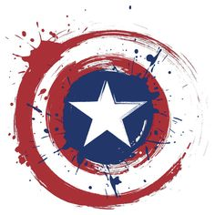 Captain America Shield Paint Splatter Design