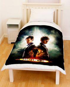 Dr Doctor Who Matt Smith David Tennant Throw Fleece Blanket