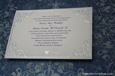 Disney wedding invitations CAN be elegant, too! :)