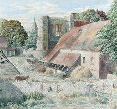 Stanley Roy Badmin R. Landscape Art, Landscape Paintings, Landscapes, Art Forms, Vintage Art, Illustration Art, Illustrations, At Least, England