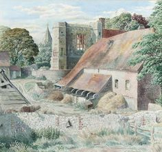 Stanley Roy Badmin R.W.S. (British, 1906-1989) Wilmington Priory, Sussex
