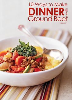 Use up that ground #beef with these easy #dinners.
