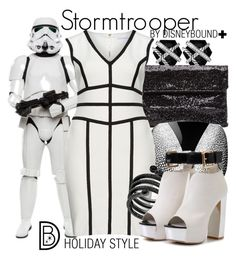 """""""Stormtrooper"""" by leslieakay ❤ liked on Polyvore featuring Trilogy, Gina Bacconi, Michael Kors, David Yurman, disney, disneybound, plussize and disneycharacter"""