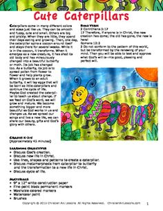 The Cute Caterpillar is a great spring lesson for drawing and painting using watercolors, with step-by-step instructions.Caterpillars come in many different colors and sizes just like us. They can be smooth and fuzzy, cute and small. Others are big and prickly.