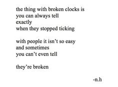 the thing with broken clocks