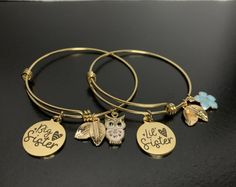 Perfect matching bracelet set for sisters! Sisters are the best friends, the therapists, and everything else we love and appreciate!