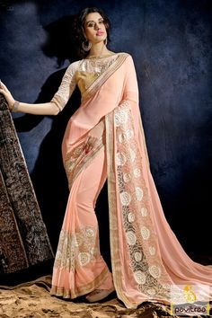 Add presentable diva in you by draping stylish peach beige net designer party wear saree online collection. Most beautiful fancy saree gently crafted by lovely sequence work pattern on bottom of saree and pallu. #saree, #partywearsaree, #weddingsaree, #sari, #indianweddingsaree, #designersaree, #sareecollection, #sareesonlineshopping, #buysareeonline, #fashionsaree, #latestsaree, #Indiansaree More: http://www.pavitraa.in/store/party-wear-saree/ Any Query: Call Us:+91-7698234040