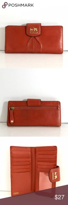 ✨New Stock✨Coach Cognac Wallet Great for all year round Coach cognac wallet. Please note there is wear and tear around wallet edges and front/back due to use. Coach Bags Wallets