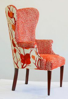 Chair like then idea of differing inner & outer fabrics