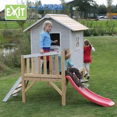 Make your kids' eyes sparkle with a Wickey playhouse ☀ Tower playhouses and garden playhouses with slide and swing set Playhouse With Slide, Garden Playhouse, Recycling, Play Houses, Make It Yourself, Kids, Outdoor, Beach, Rooms
