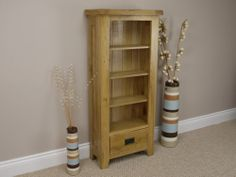 Leona Oak Cd Rack / Dvd Cabinet / Storage Unit / Chest **solid Wood** Assembled