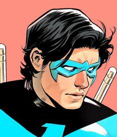 Dick Grayson in Batman: Prelude to the Wedding - Nightwing vs. Nightwing, Batgirl, Teen Titans, Comic Book Characters, Comic Books, Richard Grayson, Hq Dc, Dc Icons, Arte Dc Comics