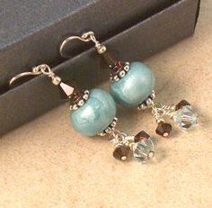 ER 0483 Aqua and Mocha (d) by Jewelry Designs By CBL, via Flickr