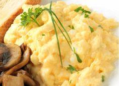 One-Minute Cheesy Mushroom Scramble Photo by: