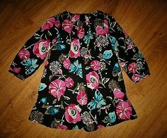 Girl's Gap Corduroy Pink Brown Floral Fall Dress Size 3T 3 years