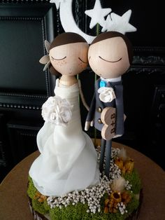 cute cake toppers by MilkTeabyBthanari on Etsy