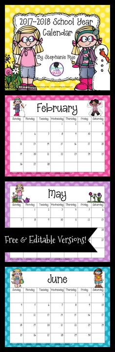 Grab this school year calendar for free! Back 2 School, Beginning Of The School Year, New School Year, First Day Of School, School Days, School Stuff, Back To School Crafts For Kids, Teacher Binder, Teacher Organization