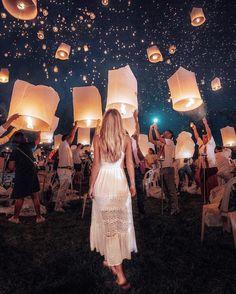 lantern fest in Thailand