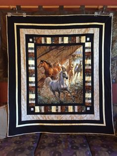Western Horse Quilt 60 x 66 by dmbrohm on Etsy