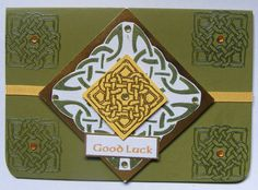 Handmade Celtic Card.  Good Luck