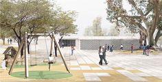 Concurso Público Parque en Villa María del Triunfo, Lima. Primer Puesto: Aldo Facho Dede / Pablo Llopis Fernández / Ana Abalos Ramos.  Colaboradores Javier Cortina Maruenda / Fernando Echeandía.