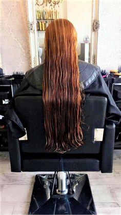 Beautiful Long Hair, Wet Hair, Haircuts, Long Hair Styles, Red, Hair Cuts, Long Hair Hairdos, Hair Cut, Long Hairstyles