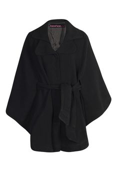 Oversized belted cape. A dramatic top that demands heels or tall, tall boots.