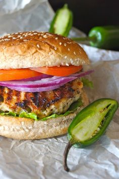 Grilled Jalapeno Pepper Jack Turkey Burger by Cooking On The Weekends