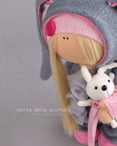Rabbit doll Tilda doll Interior doll Textile doll grey doll Soft doll Fabric doll Cloth doll Interior doll Collectable doll by Alena R __________________________________________________________________________________________ Hello, dear visitors! This is handmade soft doll
