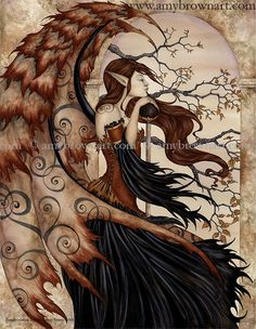Contemplating Secrets PRINTS-OPEN EDITION - Dark Fae - Amy Brown Fairy Art - The Official Gallery